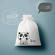Iné tašky - Vrecko LiLu - panda s menom - 10824237_
