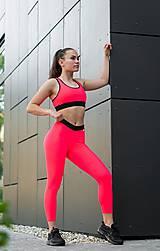 Nohavice - Legíny neón ružová - 10822930_