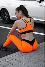 Nohavice - Legíny neón oranžová - 10823077_
