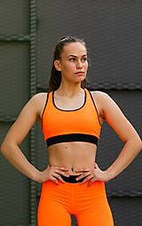 Bielizeň/Plavky - Športová podprsenka neón oranžová - 10823127_