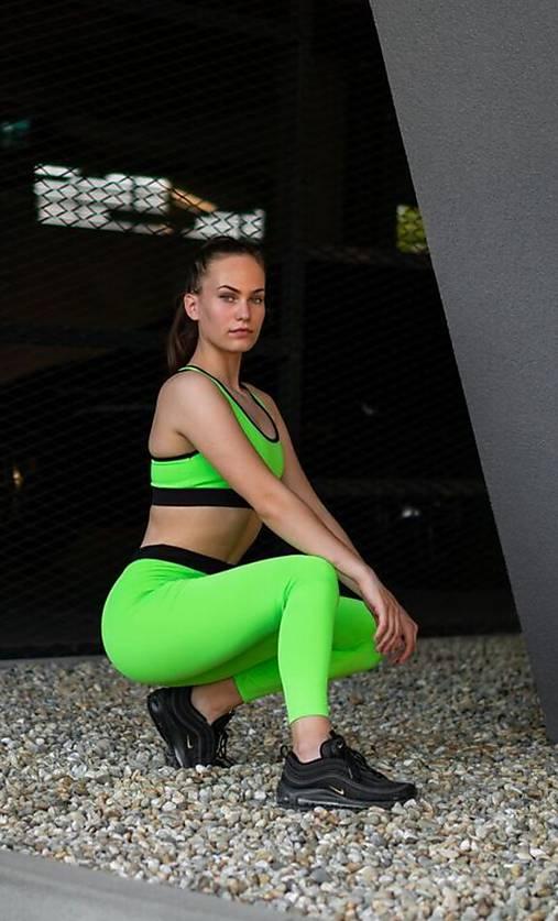Legíny neón zelená