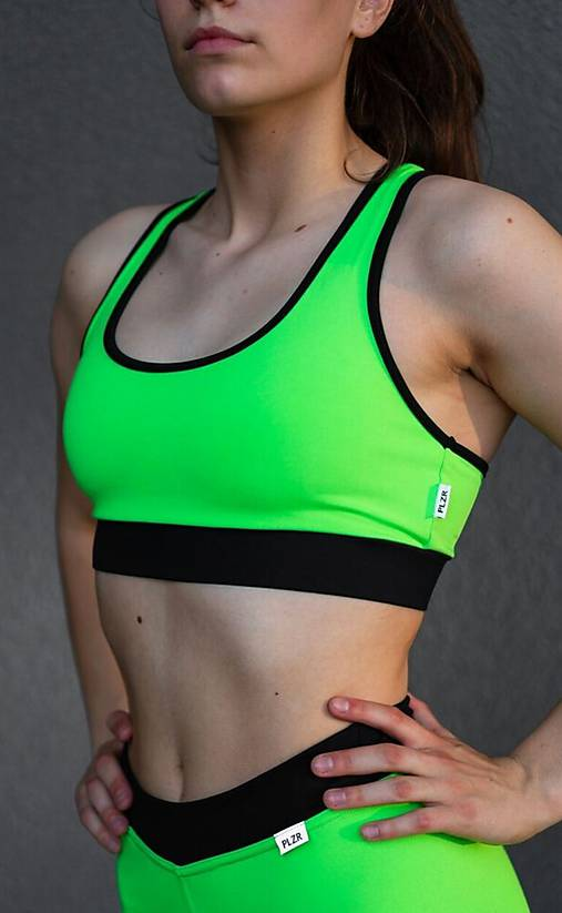 Športová podprsenka neón zelená