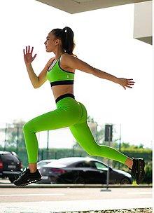 Nohavice - Legíny neón zelená - 10823198_