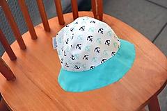 Detské čiapky - Letný klobúčik kotvičky / tyrkis - 10825034_