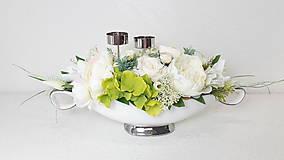 Dekorácie - Elegantná dekorácia - svietnik - 10822442_