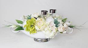 Dekorácie - Elegantná dekorácia - svietnik - 10822446_