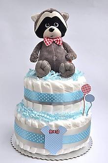 Detské doplnky - Plienková torta Gentleman - 10824843_