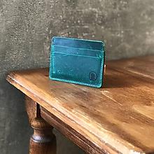 Peňaženky - Kožená peňaženka - Kožený držiak na karty - 10824253_