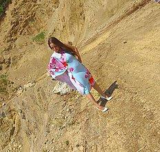 Šaty - Elegantné nebovomodré šaty - 10821938_