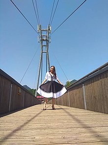 Šaty - Bieločierne šaty - 10821945_