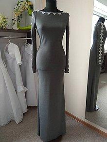 Šaty - Elegantné sivé - 10824689_