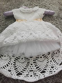 Detské oblečenie - Šaty na krst - 10821952_