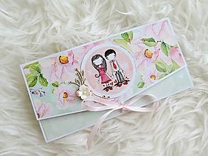 Papiernictvo - Len ja a môj svet - svadobná obálka na peniaze X. - 10824685_