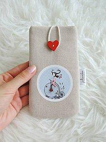 Na mobil - Obal na mobil - dievčatko na bicykli, modrý - 10824977_