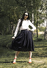 Sukne - Krajková sukňa - 10824450_
