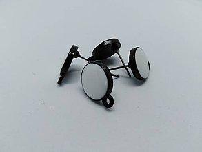 Komponenty - Náušnicové puzety - Mix (Biele kolieska 12 mm) - 10823161_