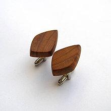 Šperky - Drevené manžetové gombíky - hruškové kúsky - 10824876_