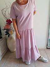 Šaty - Extra voľné ľanové šaty - 10822907_