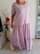 Šaty - Extra voľné ľanové šaty - 10822908_