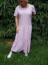 Šaty - Extra voľné ľanové šaty - 10822909_