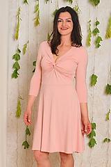 Šaty - Miliónové šaty Anett - pudrové, vel. S-M - 10822149_