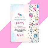 Papiernictvo - Detská narodeninová pozvánka - 10823922_