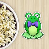 Dekorácie - Žabie grafiky na potlač koláča (žabiak fešák) - 10822641_