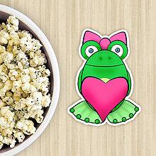 Dekorácie - Žabie grafiky na potlač koláča (zamilovaná žabka so srdiečkom) - 10822661_