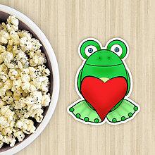 Dekorácie - Žabie grafiky na potlač koláča (zamilovaný žabiak so srdiečkom) - 10822665_