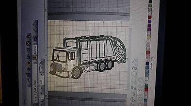 Textil - smetiarske autíčko - vankúšik-spinkáčik - 10826461_