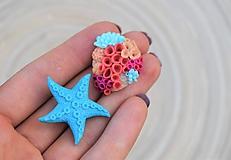 Odznaky/Brošne - Hviezdica a koral - sada brošní - 10827539_
