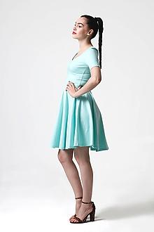 Šaty - Šaty Mint s kruhovou sukňou - 10827054_