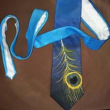 Doplnky - Hodvábna kravata Pierko - 10825192_