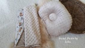 Textil - Deka + anatomický vankúš :  minky/100%bavlna - 10827520_