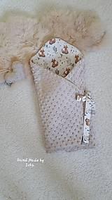 Textil - ZAVINOVAČKA  zo svetlohnedej minky / bavlna - 10827532_