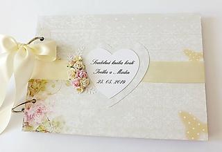 Papiernictvo - svadobná kniha hostí - 10825788_