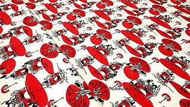 Textil - Úplet - Mačacie mesto - cena za 10 cm - 10825232_