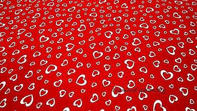 Textil - Úplet - Srdiečko- cena za 10 cm - 10825245_