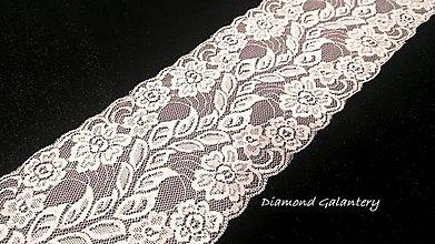 Galantéria - Krajka 150 mm - biela - cena za 10 centimetrov - 10825275_
