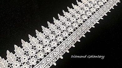 Galantéria - Krajka 122 mm - biela - cena za 10 centimetrov - 10826426_