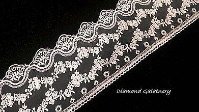 Galantéria - Krajka 130 mm - biela - cena za 10 centimetrov - 10826515_