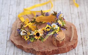 Ozdoby do vlasov - Kvetinový venček Slnečnice - 10825127_