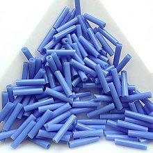 Korálky - Rokajl sekaný 9mm-20g (modrá lila) - 10825786_