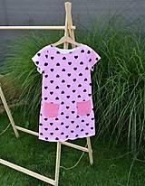 Detské oblečenie - Úpletové dievčenské šaty Cora s vreckami - 10825755_