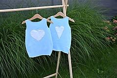 Detské oblečenie - Úpletové balónové šaty Laguna - 10825871_