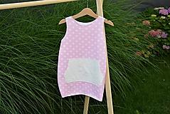 Detské oblečenie - Úpletové balónové šaty Seren s klokankou - 10826451_