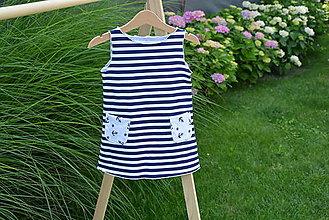 Detské oblečenie - Úpletové dievčenské šaty Imbali s vreckami - 10825618_