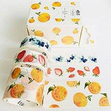 Papier - súprava ozdobných papierových pások Ovocie - 10825205_