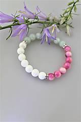 """Náramky - """"romantika"""" náramok amazonit,jadeit a snehobiela perleť - 10827571_"""