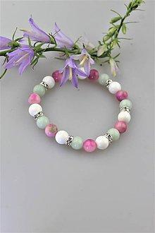 Náramky - amazonit ,perleť a jadeit náramok - 10827558_